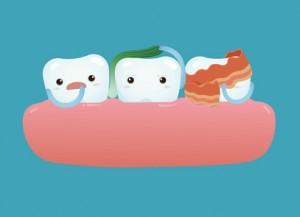 歯に付着した食べかす