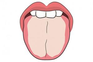 舌に付着した汚れ